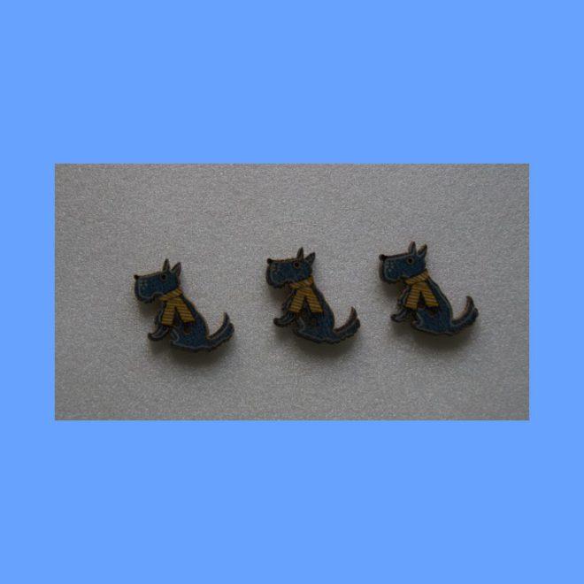 Foxterrier blau Knöpfe