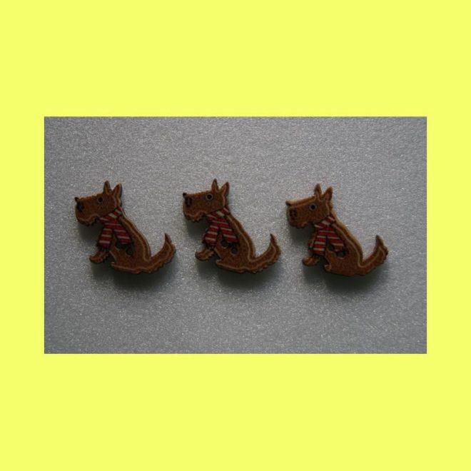 Foxterrierknöpfe braun